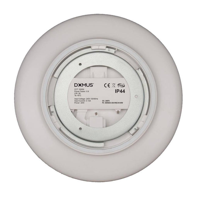LED Oyster Dimmable White 20W Mondo in 3K or 5K Domus Lighting | Alpha Lighting & Electrics