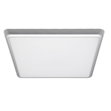 Domus Lighting Solar-300-SQ Square 240V 25W 30cm Slimline LED Ceiling Light - Silver Frame