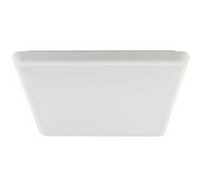 Domus Lighting Solar-400-SQ Square 240V 35W 40cm Slimline LED Ceiling Light - White Frame | Alpha Lighting & Electrics