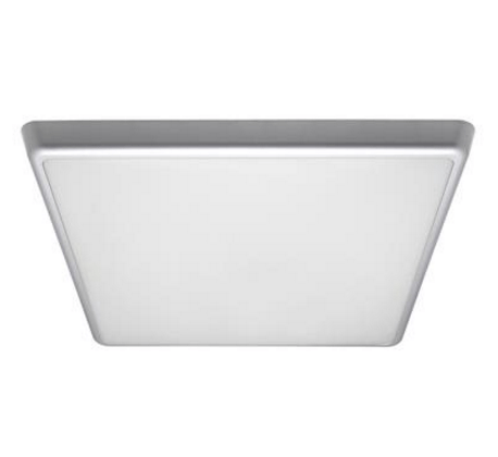Domus Lighting Solar-400-SQ Square 240V 35W 40cm Slimline LED Ceiling Light - Silver Frame