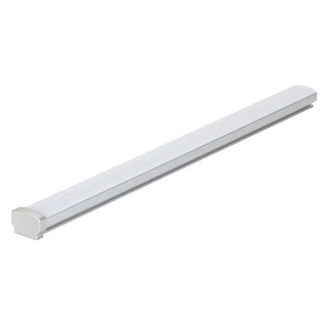 Opti-Line-SM Surface LED Profile - Natural Clear Anodised Finish/Clear Diffuser in Clear and Opal Domus Lighting