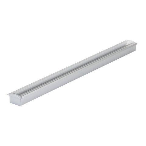 Mounting Profile Aluminium Recessed w Opal and Clear Diffuser 100cm Opti Line Domus Lighting