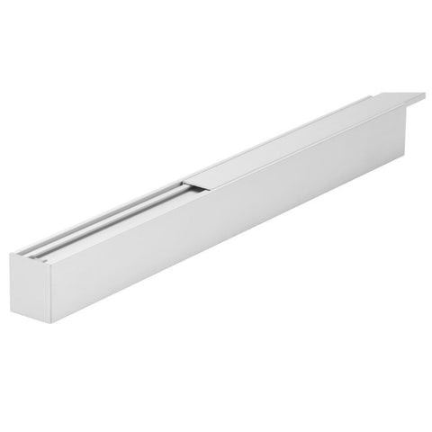 Mounting Profile in Aluminium w Flat Diffuser 100cm Luma Line Domus Lighting