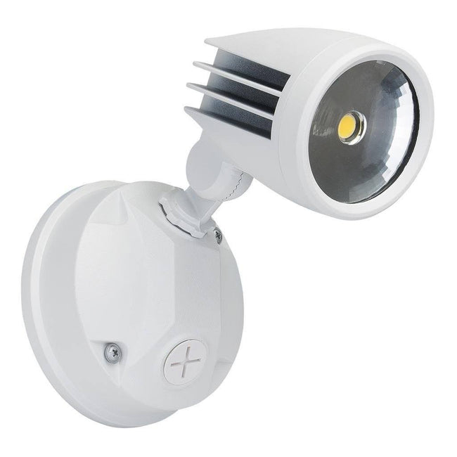 LED Spot Light Single Outdoor 15W in Black Silver or White 19cm 5K Muro Domus Lighting