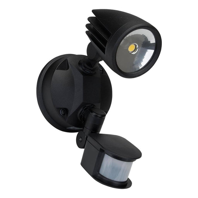 LED Spot Light Single Outdoor 15W in Black Silver or White in 5K Muro Domus Lighting | Alpha Lighting & Electrics