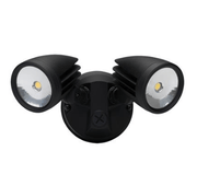LED Spot Light Twin Outdoor 30W 5K in Black Silver or White 25cm Muro Domus Lighting