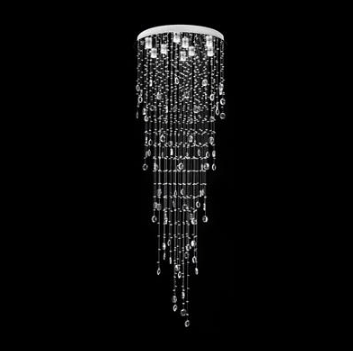 LED Pendant Crystal Light Raindrop Domus Lighting