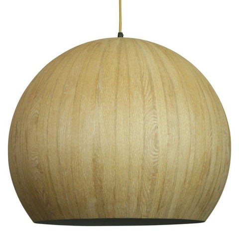 Cacia Pendant Wood Veneer Metal 42cm She Lights - Alpha Lighting & Electrics
