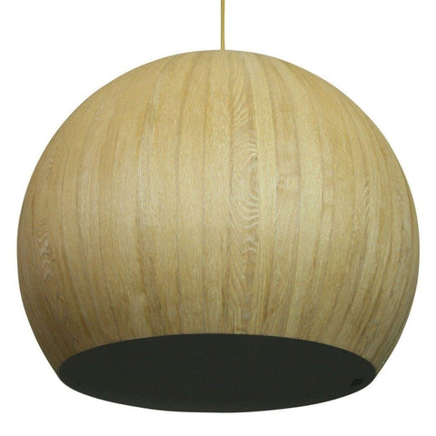 Cacia Pendant Wood Veneer Metal 42cm She Lights
