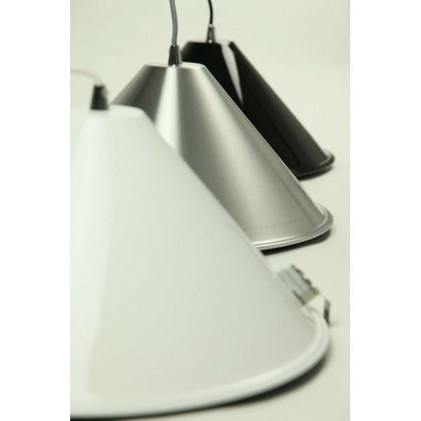 Melete Pendant in Aluminium Black or White Metal 40cm She Lights | Alpha Lighting & Electrics