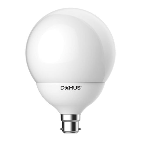 LED Globe Spherical Frost 17W in B22 or E27 17cm in 27K and 65K Domus Lighting