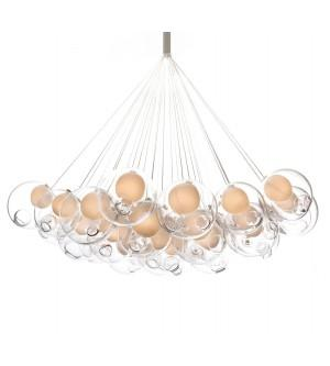 Replica Bocci Chandelier Light Round 28.37 Clear Glass