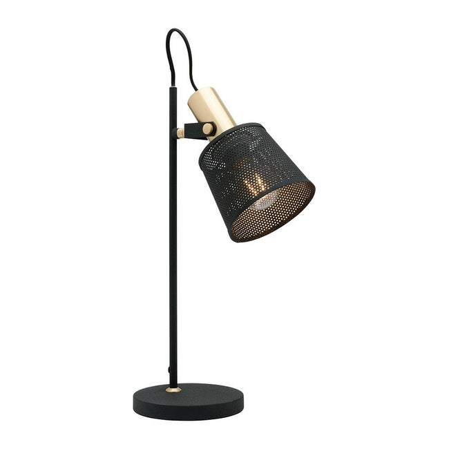 Mercator Arizona Table Lamp Black and Brushed Brass