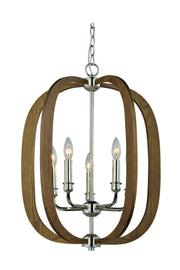 CLA Lighting Bolton Timber Pendant in Taupe and Red Wood