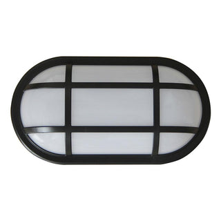 CLA Lighting LED Bulkhead 20W Oval Light with Cage Black
