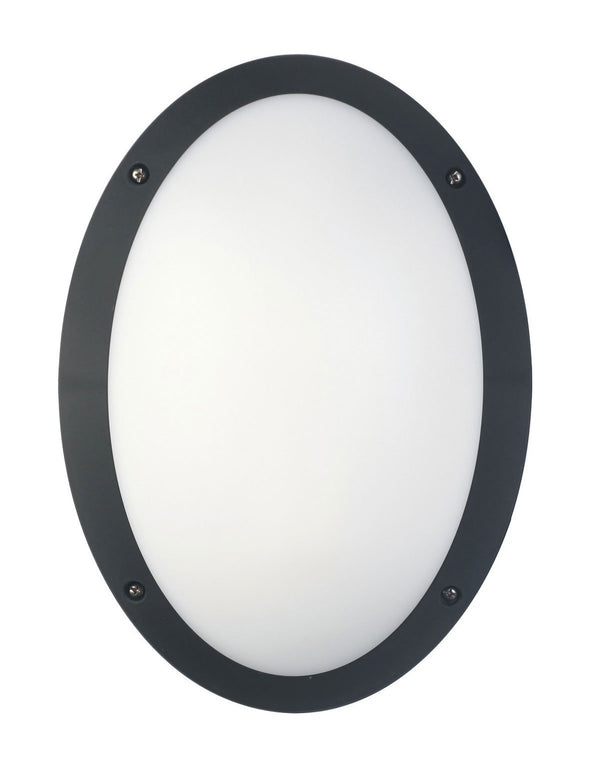 CLA Lighting LED Bulkhead 12W Oval Light in Black and White