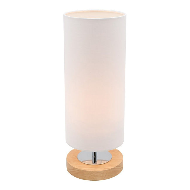 Mercator Brady Touch Table Lamp Natural Timber with White Shade