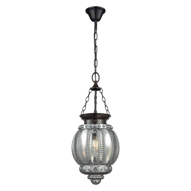 Domus Lighting CHELSEA Lantern Pendant Black 240V - 1 X E27 | Alpha Lighting & Electrics