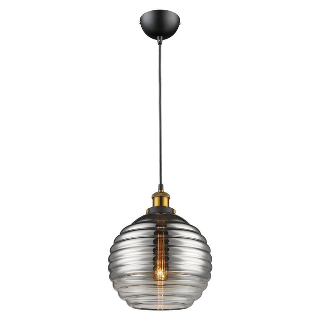 EVA Glass Pendant  Smoke or Opal Glass 240V - E27