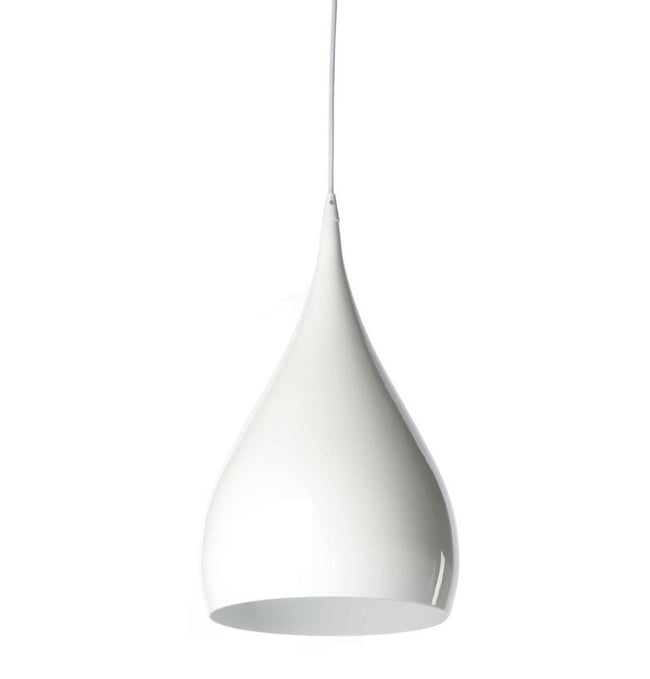 Benjamin Hubert Spinning Pendant Light BH1 Purple Black or White 25cm - Alpha Lighting & Electrics