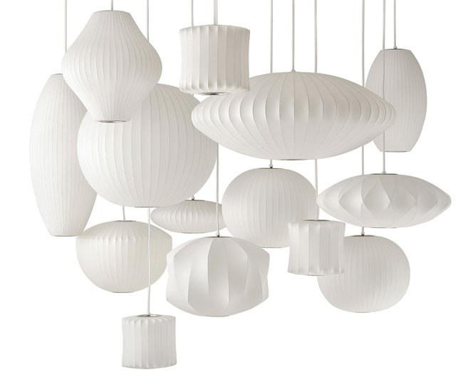 George Nelson Bubble Lamp Criss Cross Saucer Pendant Light White 40cm or 63cm - Alpha Lighting & Electrics
