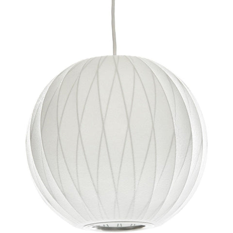 George Nelson Bubble Lamp Ball Pendant Light White 50cm Criss Cross - Alpha Lighting & Electrics