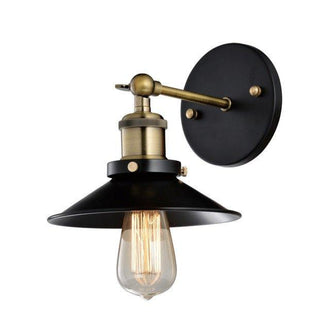 Wall Lamp Metal Black Industrial Edison Bulbs E27 Vintage - Alpha Lighting & Electrics