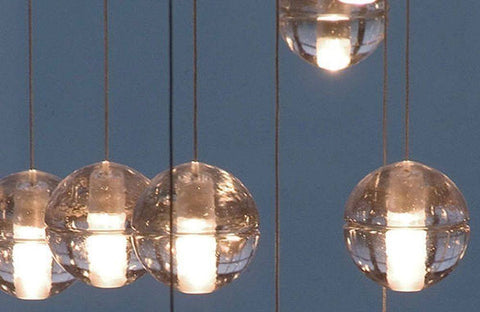 Bocci LED Pendant Light 14.26 Clear Crystal - Alpha Lighting & Electrics