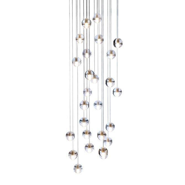 Bocci LED Pendant Light 14.36 Clear Crystal - Alpha Lighting & Electrics