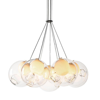 Bocci Chandelier Light Round 28.7 Clear Glass 33.3cm - Alpha Lighting & Electrics