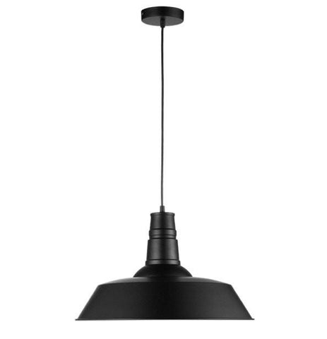 Replica Pendant Light Metal Industrial Funnel Lamp in Black Green or White
