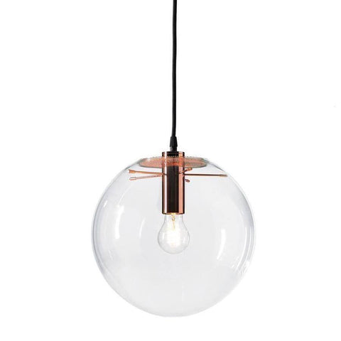 Selene Pendant Glass Light by Sandra Lidner in Copper - Alpha Lighting & Electrics