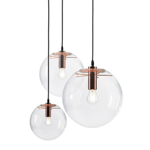 Replica Selene Pendant Glass Light by Sandra Lidner in Copper