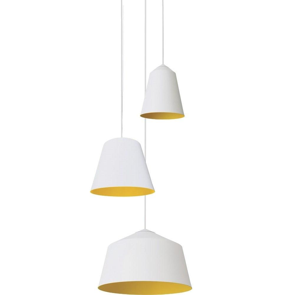 Corinna Warm Circus Pendant Lamp in Black or White in 15cm - Alpha Lighting & Electrics