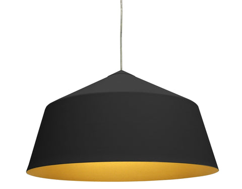 Corinna Warm Circus Pendant Lamp in Black or White in 56cm - Alpha Lighting & Electrics
