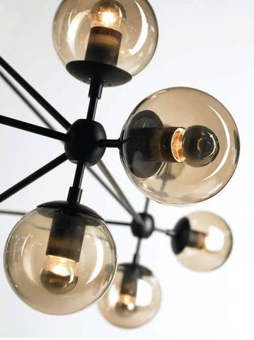 Replica Roll & Hill Jason Miller Modo Chandelier Light Black in 125cm