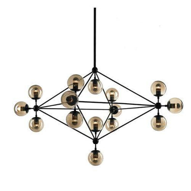 Roll & Hill Jason Miller Modo Chandelier Light Black in 135cm - Alpha Lighting & Electrics