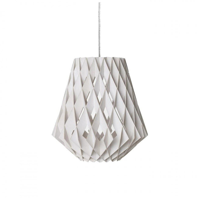 Tuukka Halonen Pilke Pendant Light in Black White or Natural Birch 36cm - Alpha Lighting & Electrics
