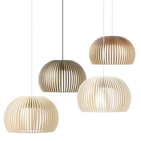 Replica Secto Design Seppo Koho Atto 5000 Pendant Light in White Black or Natural 34cm