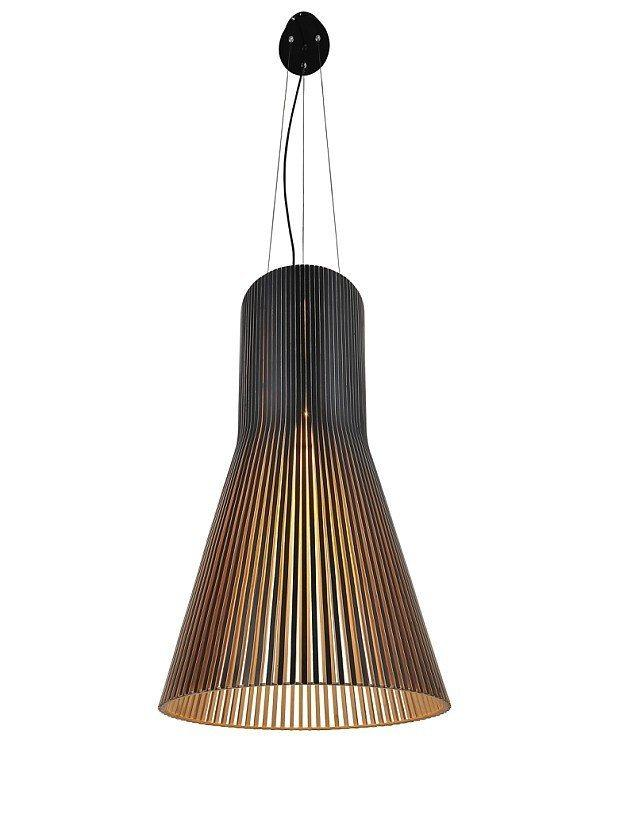 Secto Design Seppo Koho Secto 4200 Pendant Lamp in Black Natural or White - Alpha Lighting & Electrics