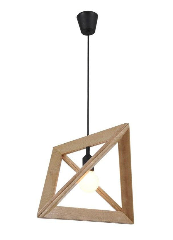 Herr Mandel Triangle Pendant Wood Lamp Frame - Alpha Lighting & Electrics