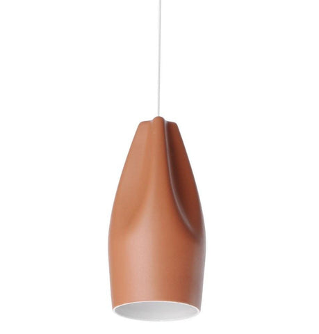 Xavier Lust Pleat Box Pendant Light Ceramic 13cm in White Red Grey - Alpha Lighting & Electrics