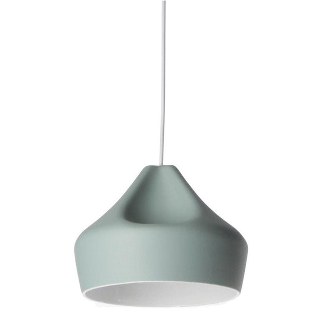 Xavier Lust Pleat Box Pendant Light Ceramic 24cm in White Red Grey - Alpha Lighting & Electrics