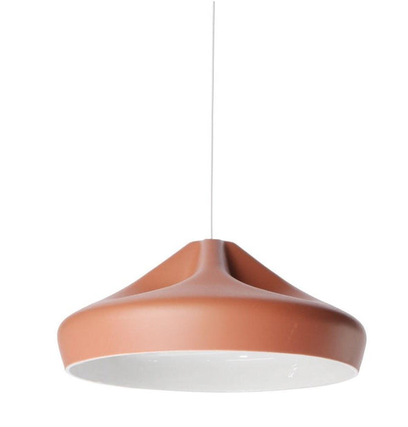 Xavier Lust Pleat Box Pendant Light Ceramic 36cm in White Red Grey - Alpha Lighting & Electrics
