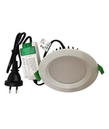 CLA Lighting GALTRI: 10W LED Dimmable Tri-CCT Fixed White Recessed Downlight