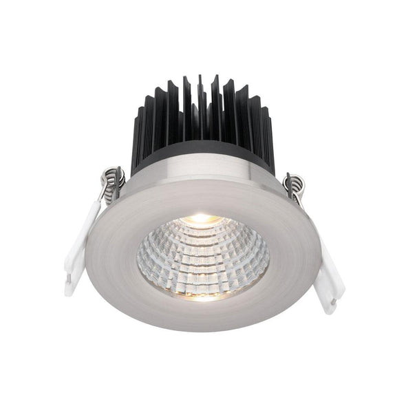 Mercator Gizmo 12W Fixed Dimmable LED Downlight Silver Frame