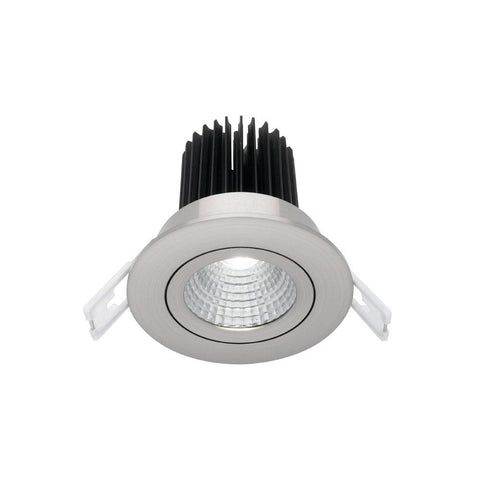 Mercator Gizmo Gimble 12W Dimmable LED Downlight Silver Frame