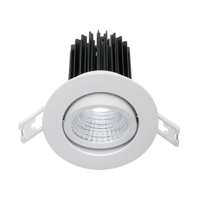 Mercator Gizmo Gimble 12W  Dimmable LED Downlight White Frame