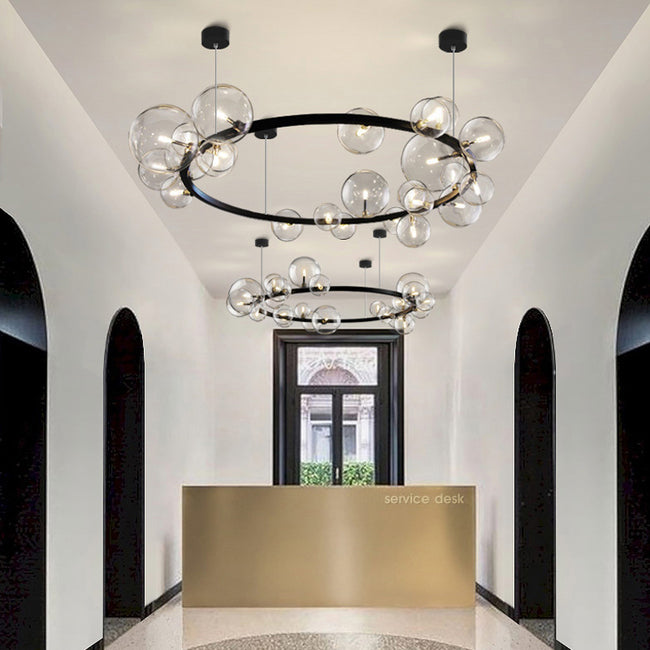 Orb Contemporary Halo Chandelier