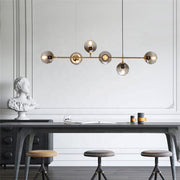 Turisa 6 Light Antique Brass Pendant